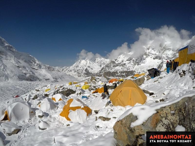 Στο basecamp της Kanchenjunga.
